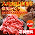 「九州産」黒毛和牛切り落とし(500g)