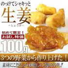 送料無料 3種の野菜で作ったご飯のお供に のっけてシャキッと生姜100g(メール便)