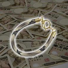 【金運特化】金運を司る蛇の力!!THE・SNAKERS-ザ・スネイカーズ-本物の「蛇皮」採用!!<総蛇柄×金パーツ使用【free10】