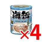 【納期約1~2週間】海缶 ミニ 3P しらす入りかつお ×4セット (4571104712947)