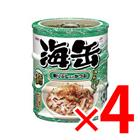 【納期約1~2週間】海缶 ミニ 3P 削りぶし入りかつお ×4セット (4571104712961)