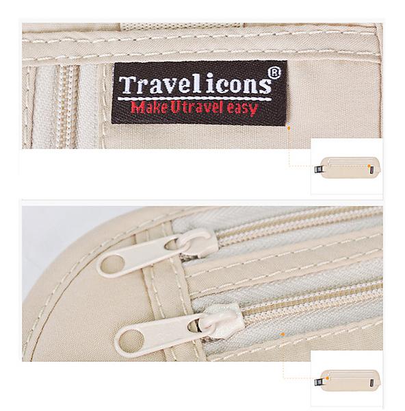 ウエストポーチ セキュリティポーチ 海外旅行 貴重品袋 盗難防止 トラベルポーチ 隠しポケット 海外旅行便利グッズ 旅行小物
