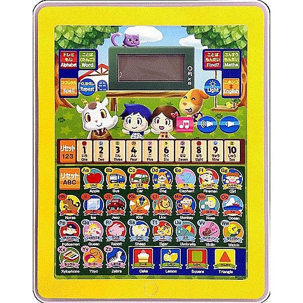 【全商品ポイント10倍!!】おべんきょう タブレット型 子供用 おもちゃ 英語モード 日本語モード 知育 文字 言葉 つづり 算数 音楽 ボード 幼児教育 対象年齢3歳以上 ♪