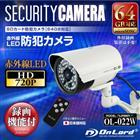 【OnLord(オンロード)】防水・防塵型 MicroSDカード録画 超強力赤外線LEDライト搭載 防犯カメラ 「OL-022W」ホワイト【送料無料】