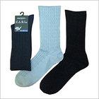 【日本製】特許技術採用 靴下 メンズ ビジネス 綿 ナワ柄 ゴムなしソックス