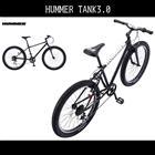 【送料無料 マウンテンバイク ハマー(HUMMER)自転車】 ブラック 黒色【26インチ マウンテンバイク 外装6段変速ギア MTB】 自転車 ハマー マウンテンバイク TANK3.0 激安