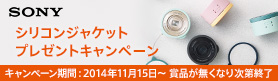 SONY DSC-QX10 シリコンジャケットプレゼント