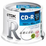 TDK 48倍速対応 データ用CD-Rメディア (700MB・50枚) CDR80PWDX50PE