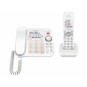 【クリックでお店のこの商品のページへ】PIONEER デジタルコードレス電話機 TF-FA30S-W TFSA30S