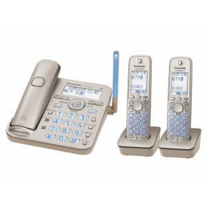Panasonic コードレス電話機 子機2台付き VE-GD53DW-N