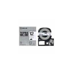 KING JIM テプラ アイロンラベルテープ (白テープ/黒文字/12mm幅) SF12K