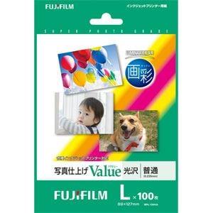 FUJI  FILM 写真仕上げValue 光沢 100枚 Lサイズ WPL100VA