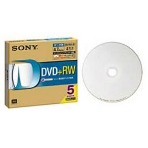 SONY データ用DVD+RW インクジェットプリンター対応ホワイトレーベル 5枚 5DPW47HPS