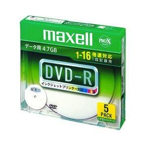 マクセル データ用DVD-R 4.7GB 16倍速プリンタブルホワイト 5枚 DR47WPD.S1P5S A
