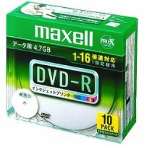 マクセル データ用DVD-R 4.7GB 16倍速プリンタブルワイド 10枚 DR47WPD.S1P10S A