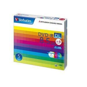 三菱ケミカルメディア DHR85HP5V1 データ用8倍速対応DVD-R DL 5枚パック 8.5GB ホワイトプリンタブル