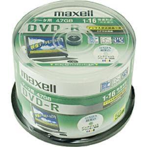 マクセル データ用DVD-R CPRM対応 ワイドホワイトレーべル 1~16倍速対応 50枚 DRD47WPD.50SP
