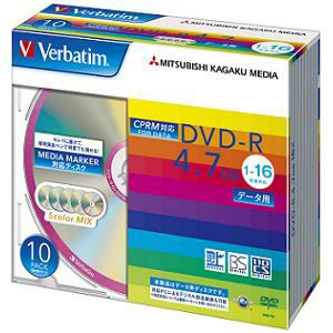 三菱ケミカルメディア DHR47JDS10V1DVD-R 一回録画用 4.7GB 1-16倍速 10枚