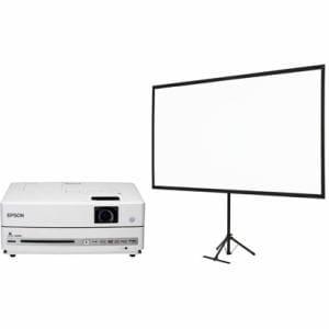 エプソン エプソン DVD一体型ホームシアタープロジェクター ドリーミオ スクリーンセット EH-DM30S