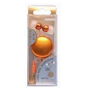 ナガオカ P-704OR 片出し式コードリールイヤホン オレンジ
