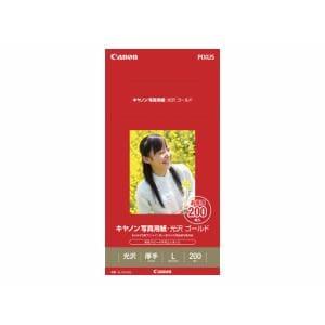キャノン キヤノン写真用紙・光沢 ゴールド L判 200枚 GL101L200