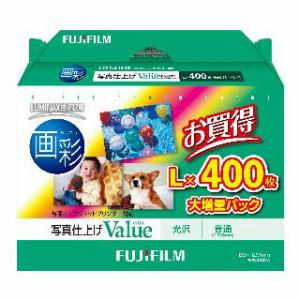 FUJI  FILM インクジェットペーパー 画彩 写真仕上げ Valueバリュー 光沢 400枚 WPL400VA