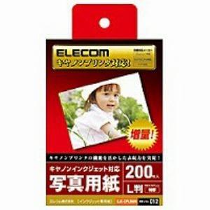 エレコム キヤノンインクジェット対応 写真用紙 特厚タイプ (L判・200枚) EJKCPL200N