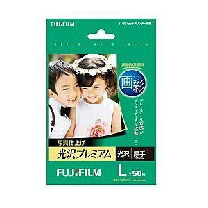 """FUJI  FILM """"画彩"""" 写真仕上げ 光沢プレミアム (Lサイズ・50枚) WPL50PRM"""