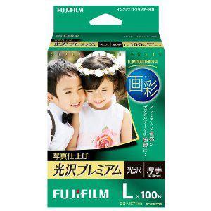FUJI  FILM 画彩 写真仕上げ 光沢プレミアム L判 100枚 WPL100PRM