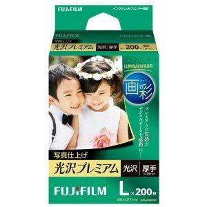 FUJI  FILM インクジェット用紙 画彩 写真仕上げ 光沢プレミアム L 200枚 WPL200PRM