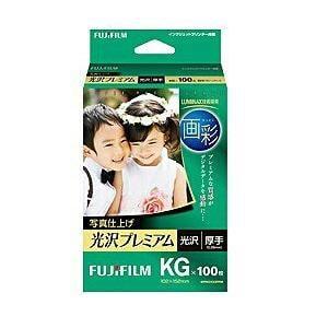 "FUJI  FILM ""画彩"" 写真仕上げ 光沢プレミアム (KGサイズ・100枚) WPKG100PRM"