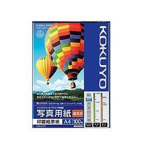 """コクヨ """"IJP用写真用紙"""" 印画紙原紙 高光沢 (A4サイズ・100枚) KJD12A4100"""