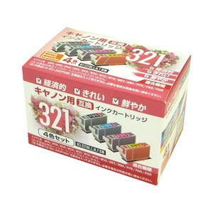 【クリックで詳細表示】PPC PP-C321-4P キヤノン用互換インク(4色セット)