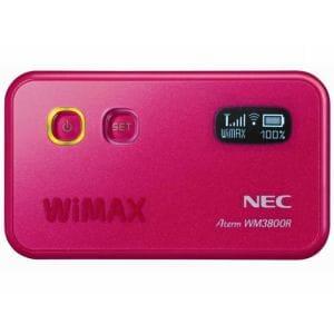 【クリックでお店のこの商品のページへ】NEC WiMAXモバイルルーター PA-WM3800R(AT)P