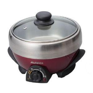 アビテラックス 電気ミニグリル鍋 ワインレッド/ブラック APN20G-R