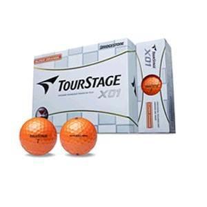 ブリヂストン TOUR STAGE X01 BALL 【ゴルフボール】 1スリーブ(3球) スーパーオレンジ