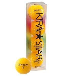 【クリックで詳細表示】キャスコ KIRA★STAR2 【ゴルフボール】オレンジ 1スリーブ(4球)