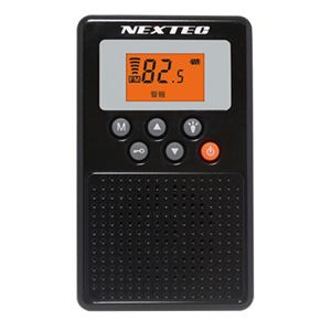 NEXTEC NX-109RD-BK 防災ラジオ ブラック