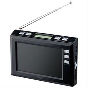 ヤザワ 4.3インチディスプレイ ワンセグラジオ TV03BK