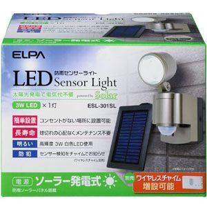 ELPA ESL-301SL LED防雨センサーライト 1灯 ソーラー式