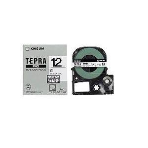 キングジム テプラ 強粘着ラベルテープ (白テープ/黒文字/12mm幅) SS12KW