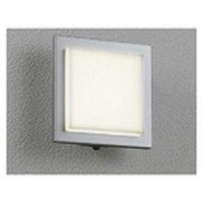 オーデリック 人感センサ防雨型LEDポーチライト 電球色タイプ マットシルバー OG254007