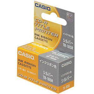 カシオ ディスクタイトルプリンター用 交換用インクリボンカセット TR18