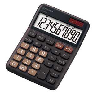 SHARP カラーデザイン電卓(ミニナイスサイズタイプ) (ブラウン系) EL-M334-TX