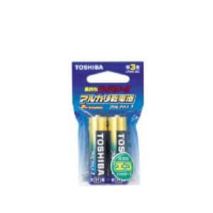 東芝 東芝 アルカリ単三乾電池(2本入)エコパッケージ LR6AG 2EC