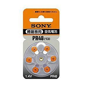 ソニー 【空気電池】補聴器用(1.4V・6個入り) PR48-6D