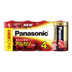 パナソニック アルカリ乾電池単1形4本パック LR20XJ/4SW