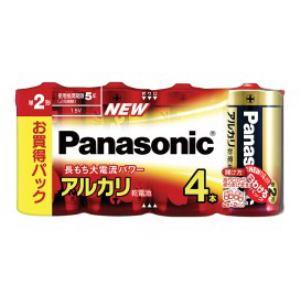 パナソニック アルカリ乾電池単2形4本パック LR14XJ/4SW