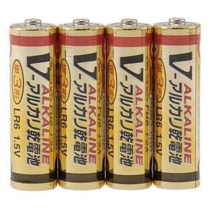 オーム電機 アルカリ乾電池単3形(4本パック) LR6-4SVV