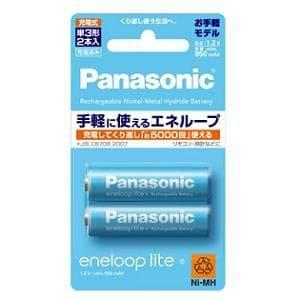 パナソニック ニッケル水素充電池 (eneloop)エネループ 単3形 2本パック(お手軽モデル) BK-3LCC/2